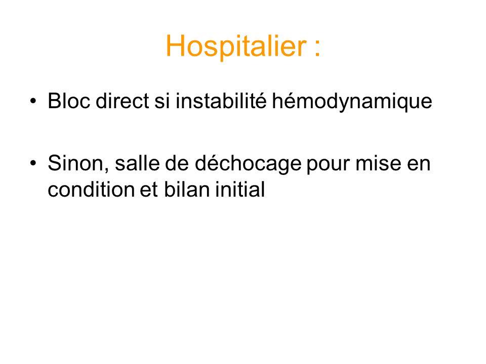 Hospitalier : Bloc direct si instabilité hémodynamique