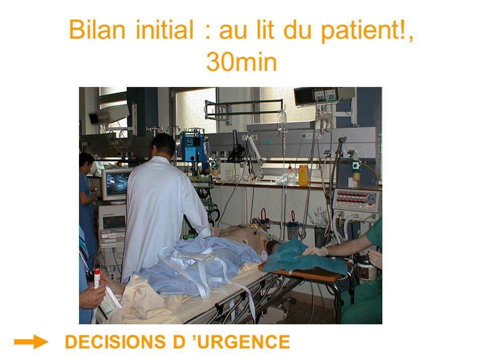 Bilan initial : au lit du patient!, 30min