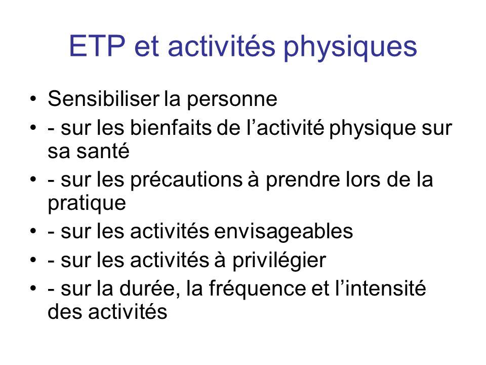 ETP et activités physiques