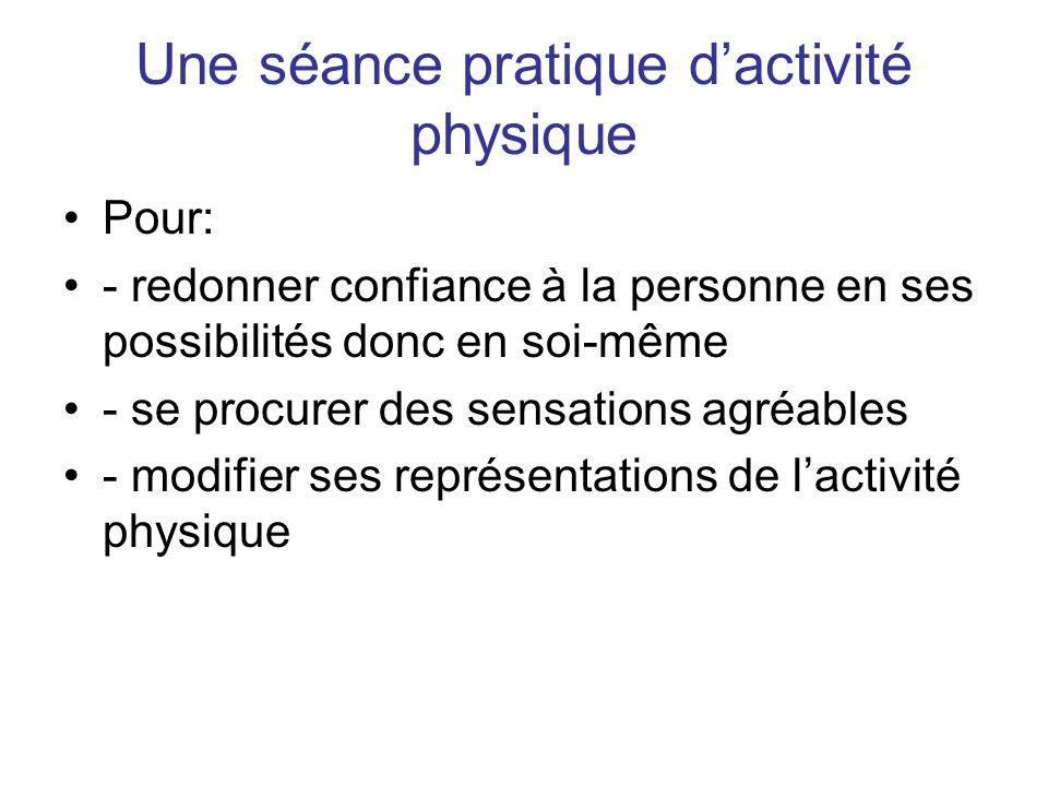 Une séance pratique d'activité physique