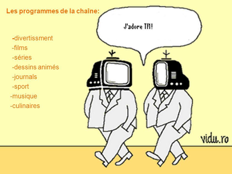 Les programmes de la chaîne: