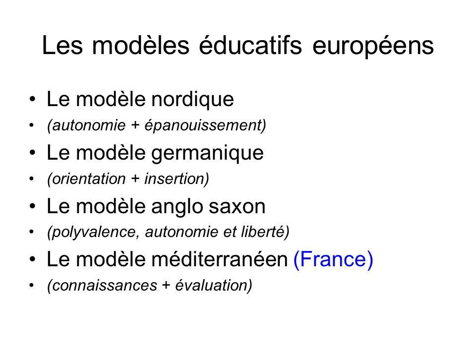 Les modèles éducatifs européens