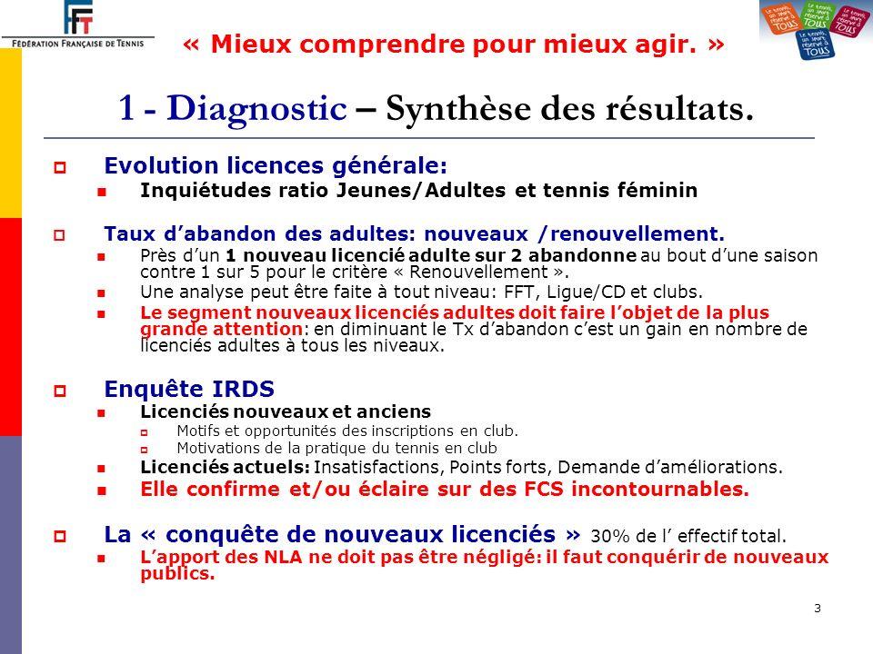 1 - Diagnostic – Synthèse des résultats.