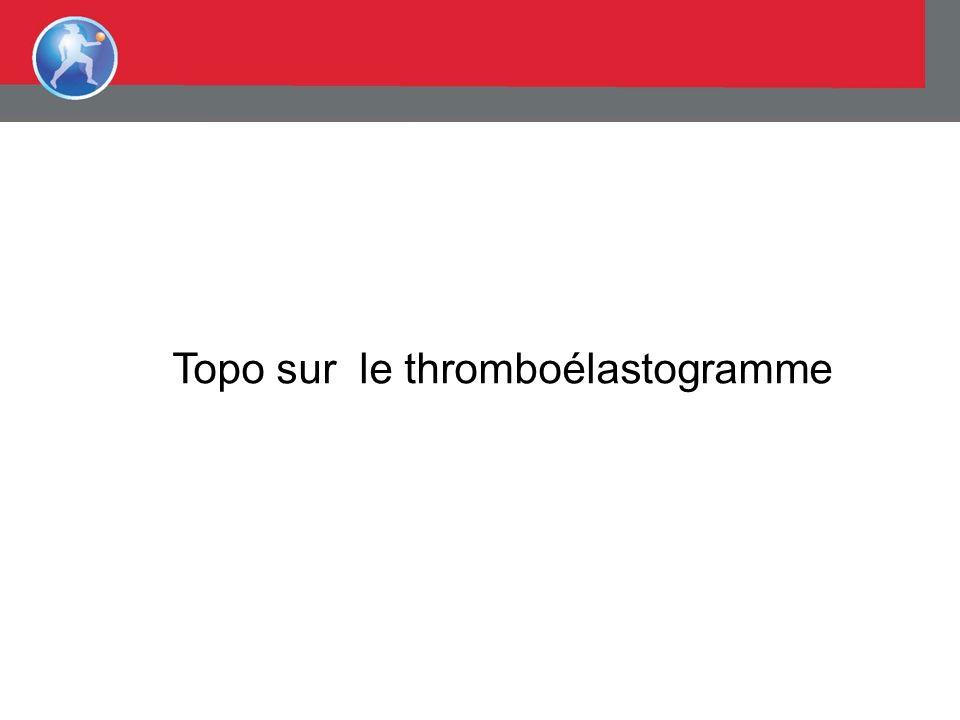 Topo sur le thromboélastogramme