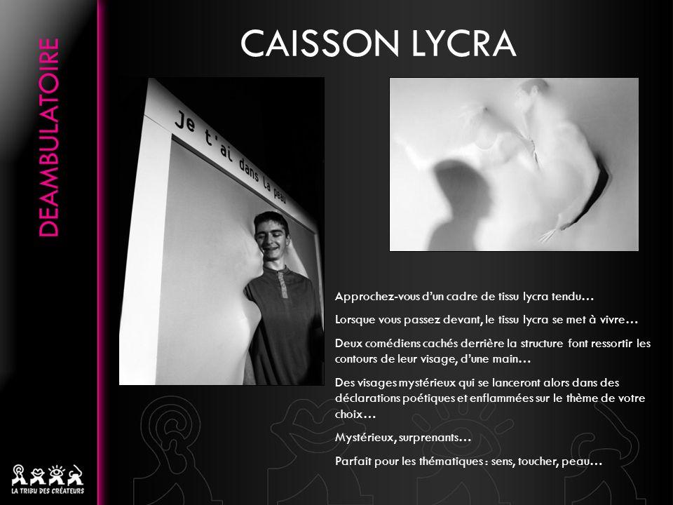 CAISSON LYCRA Approchez-vous d'un cadre de tissu lycra tendu…
