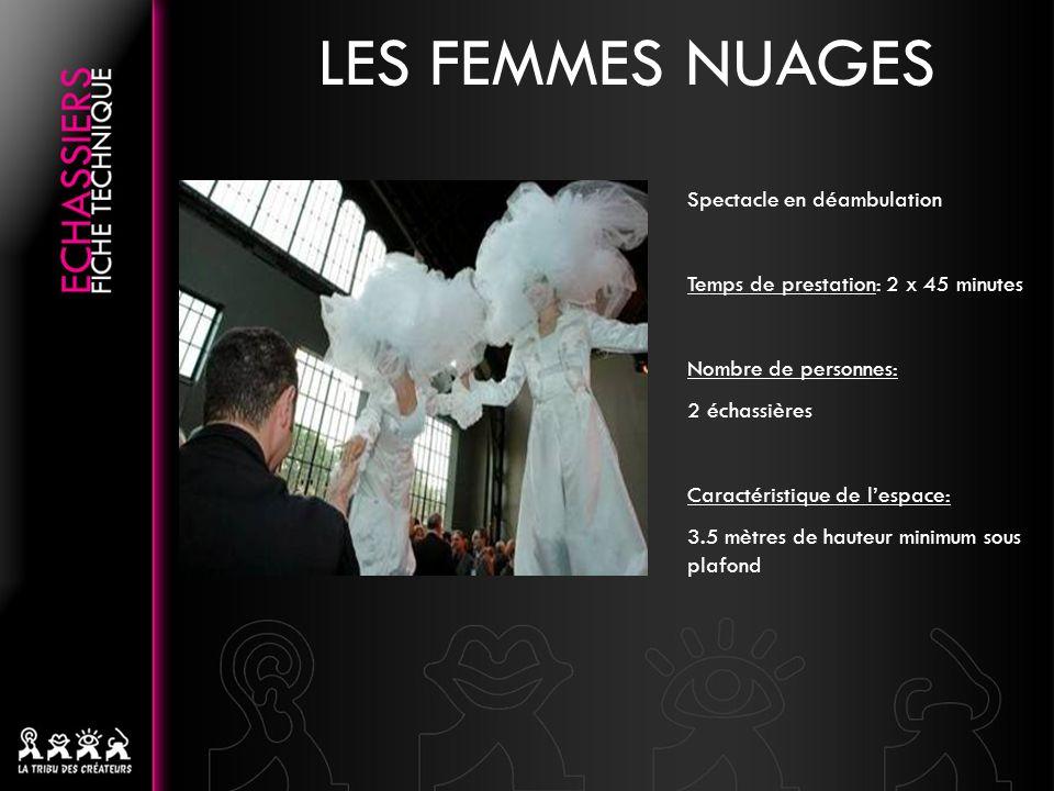 LES FEMMES NUAGES Spectacle en déambulation