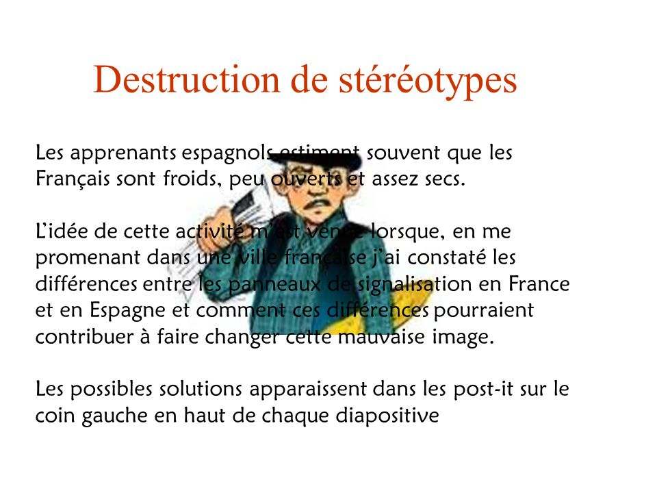 Destruction de stéréotypes