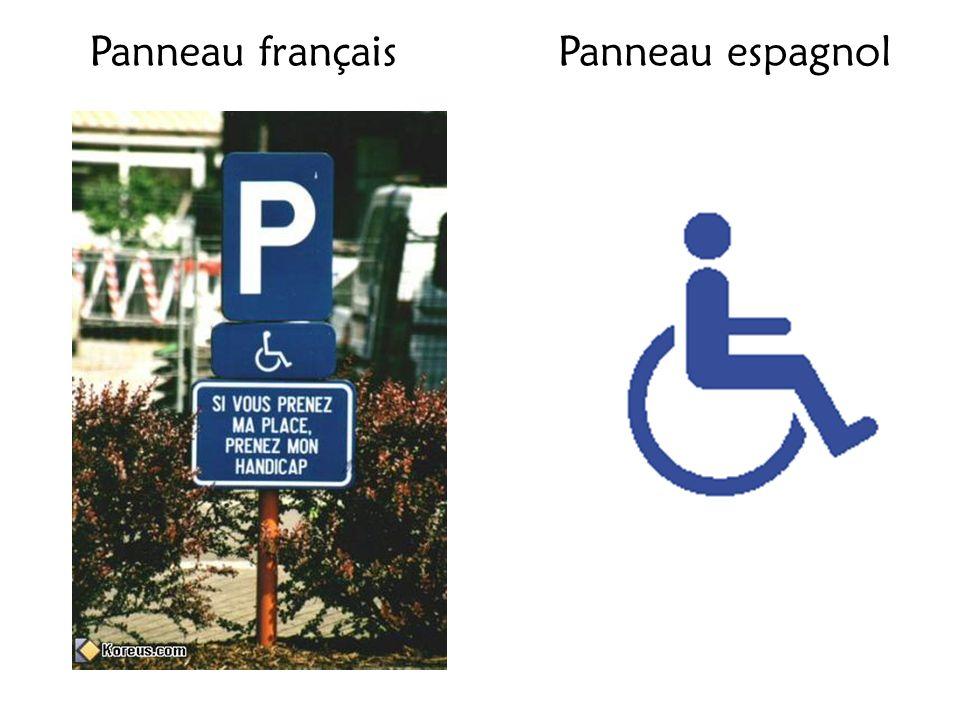 Panneau français Panneau espagnol