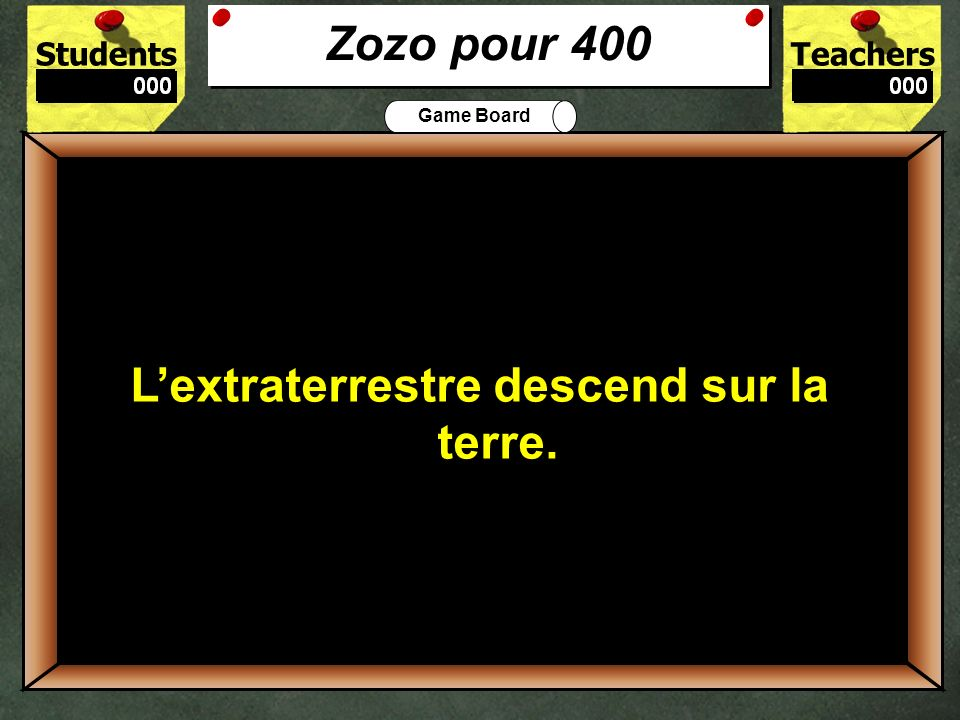 400 Zozo pour 400 L'extraterrestre descend sur la terre.