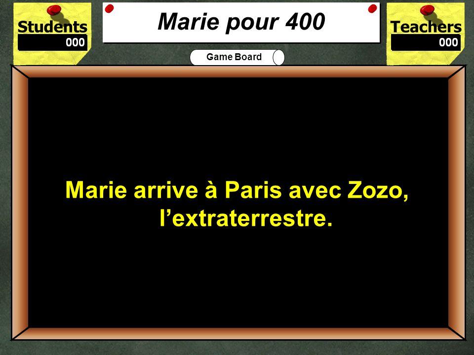 400 Marie pour 400 Marie arrive à Paris avec Zozo, l'extraterrestre.