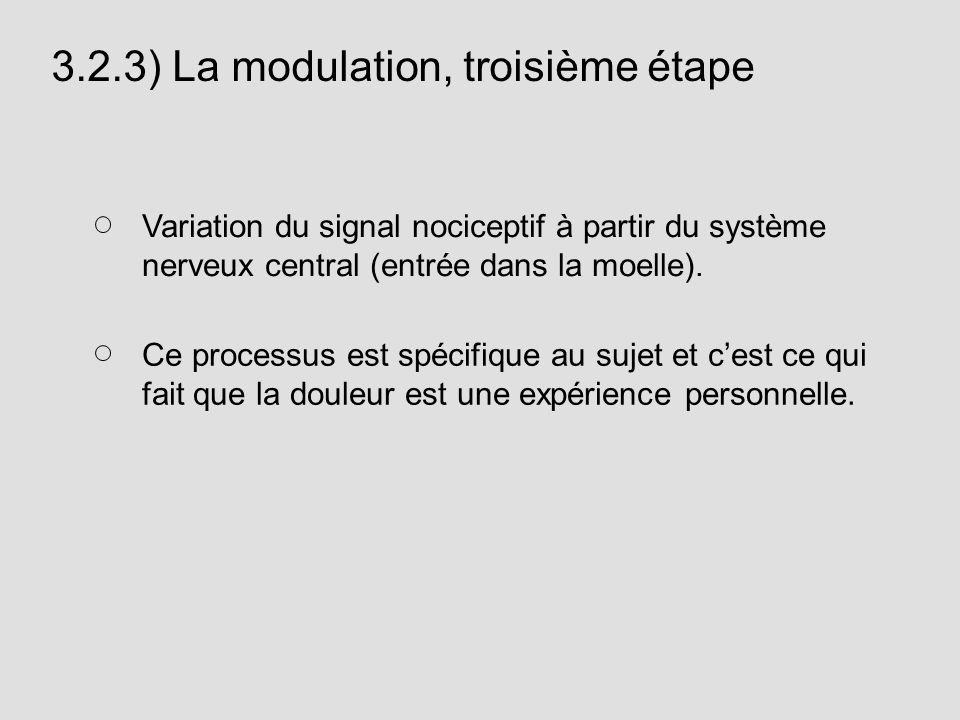 3.2.3) La modulation, troisième étape