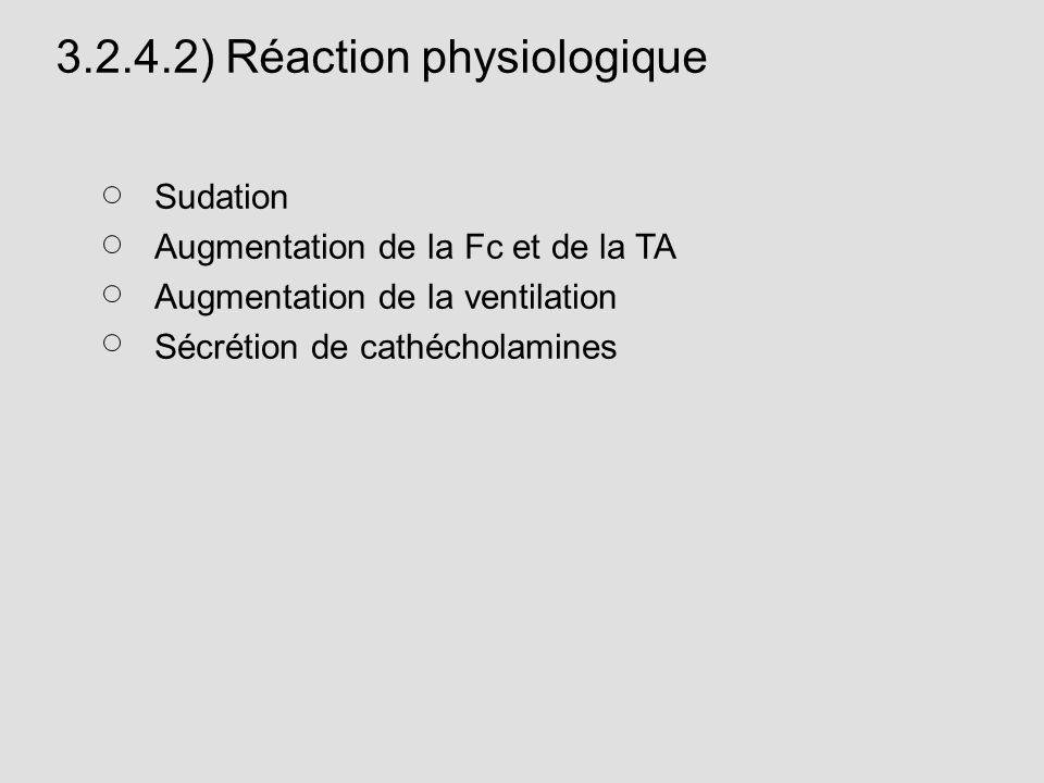 3.2.4.2) Réaction physiologique