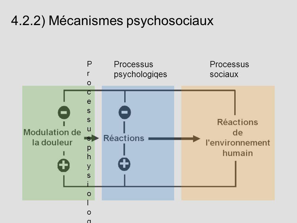 4.2.2) Mécanismes psychosociaux
