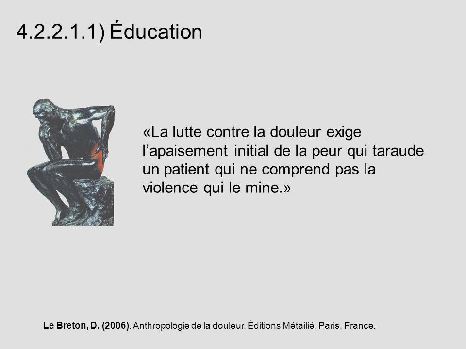 4.2.2.1.1) Éducation
