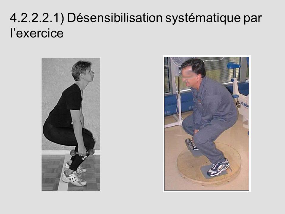 4.2.2.2.1) Désensibilisation systématique par l'exercice