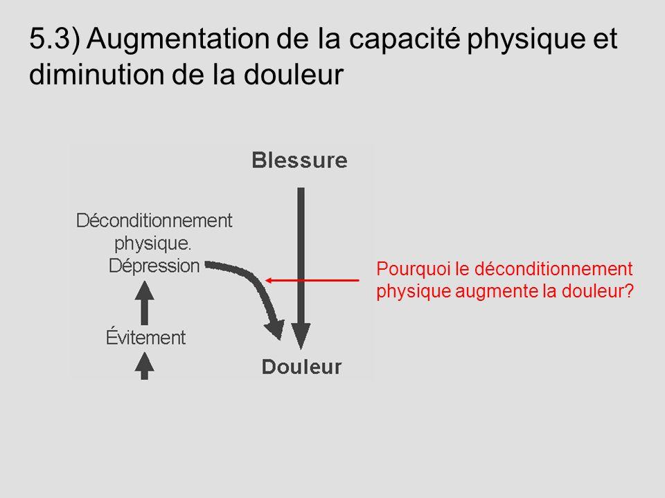 5.3) Augmentation de la capacité physique et diminution de la douleur