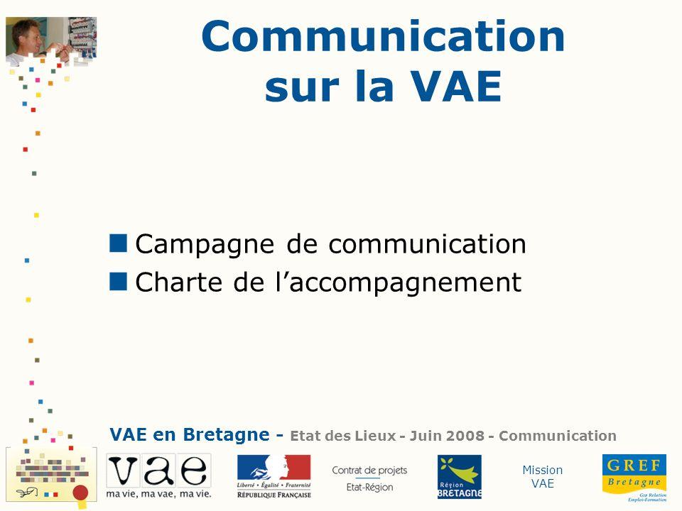 Communication sur la VAE