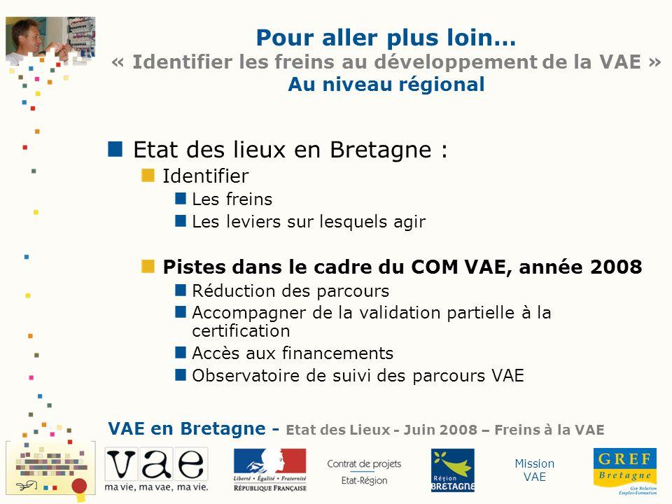 Etat des lieux en Bretagne :