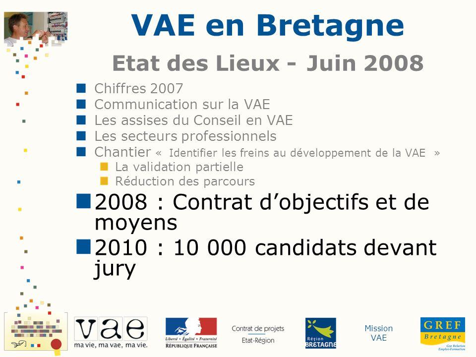 VAE en Bretagne Etat des Lieux - Juin 2008