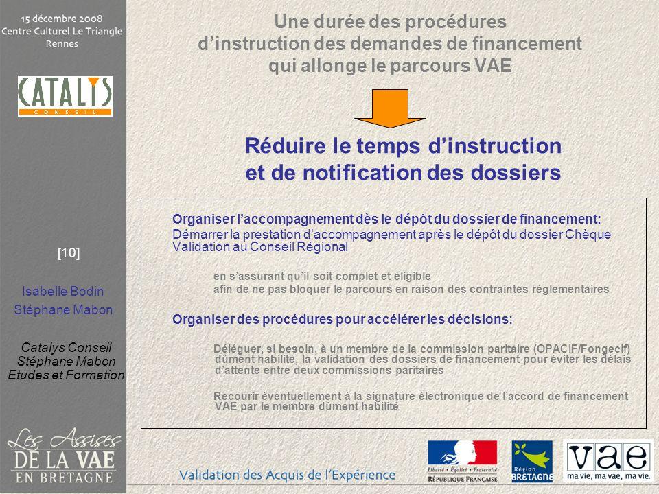 Réduire le temps d'instruction et de notification des dossiers