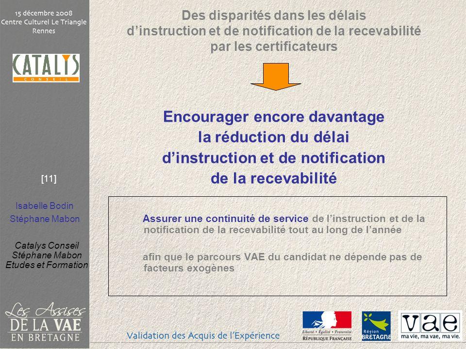 Encourager encore davantage d'instruction et de notification