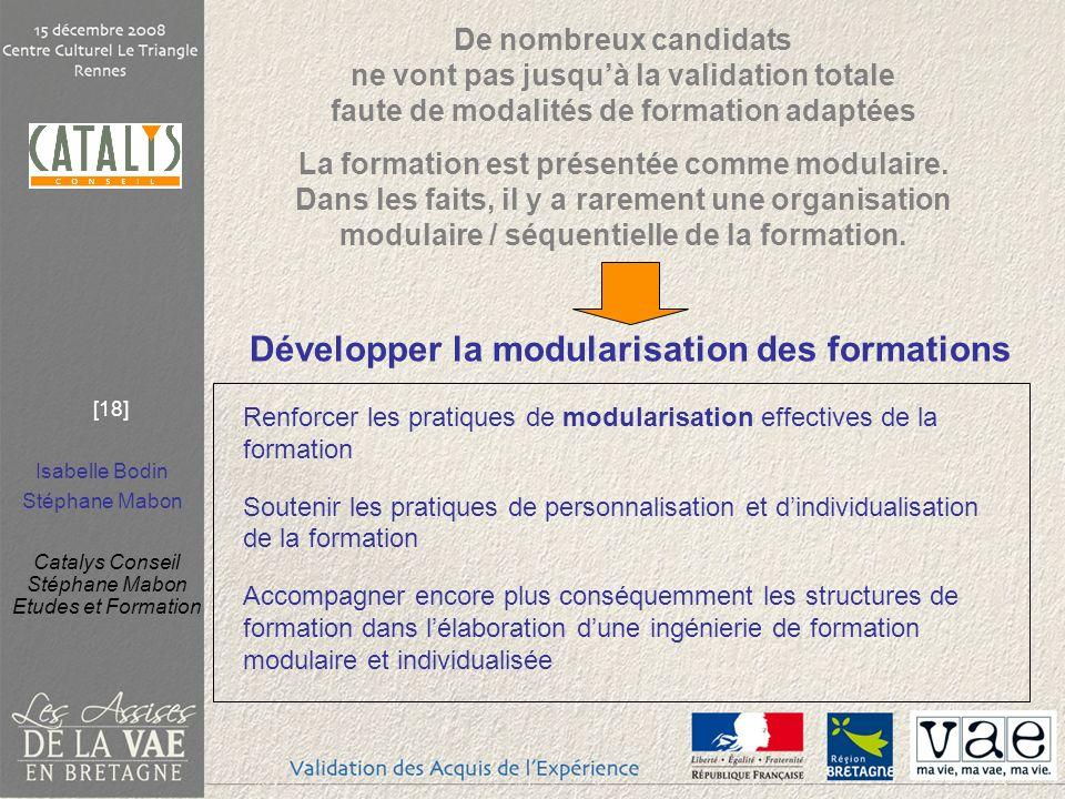 Développer la modularisation des formations