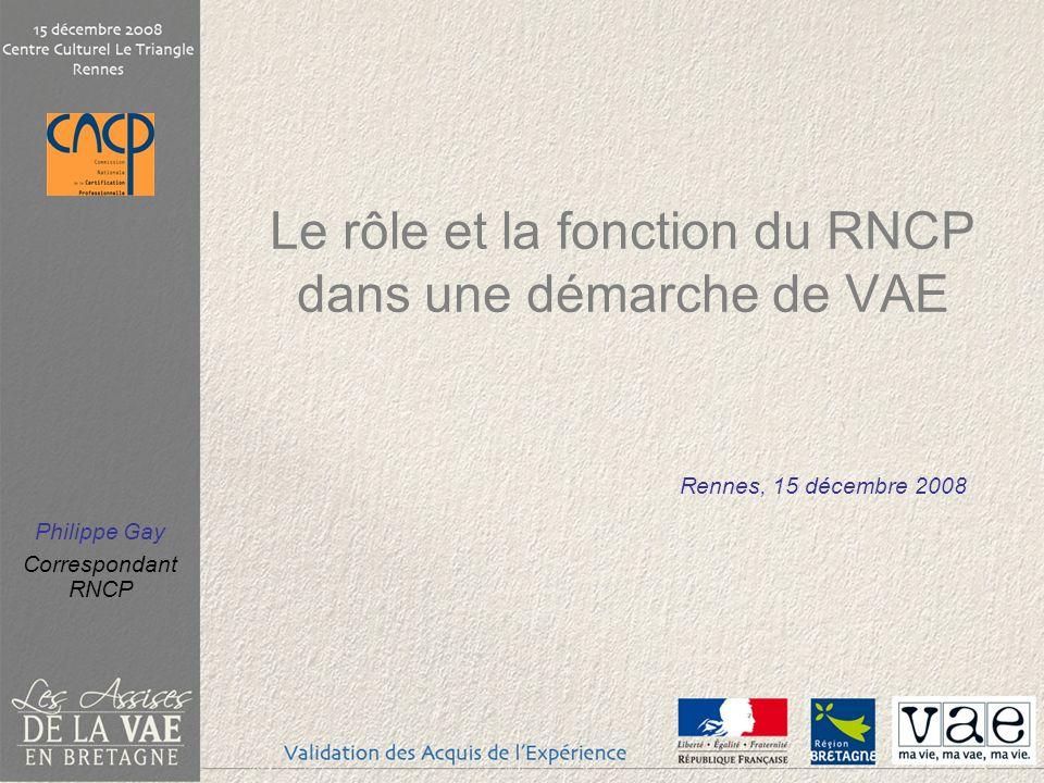 Le rôle et la fonction du RNCP dans une démarche de VAE