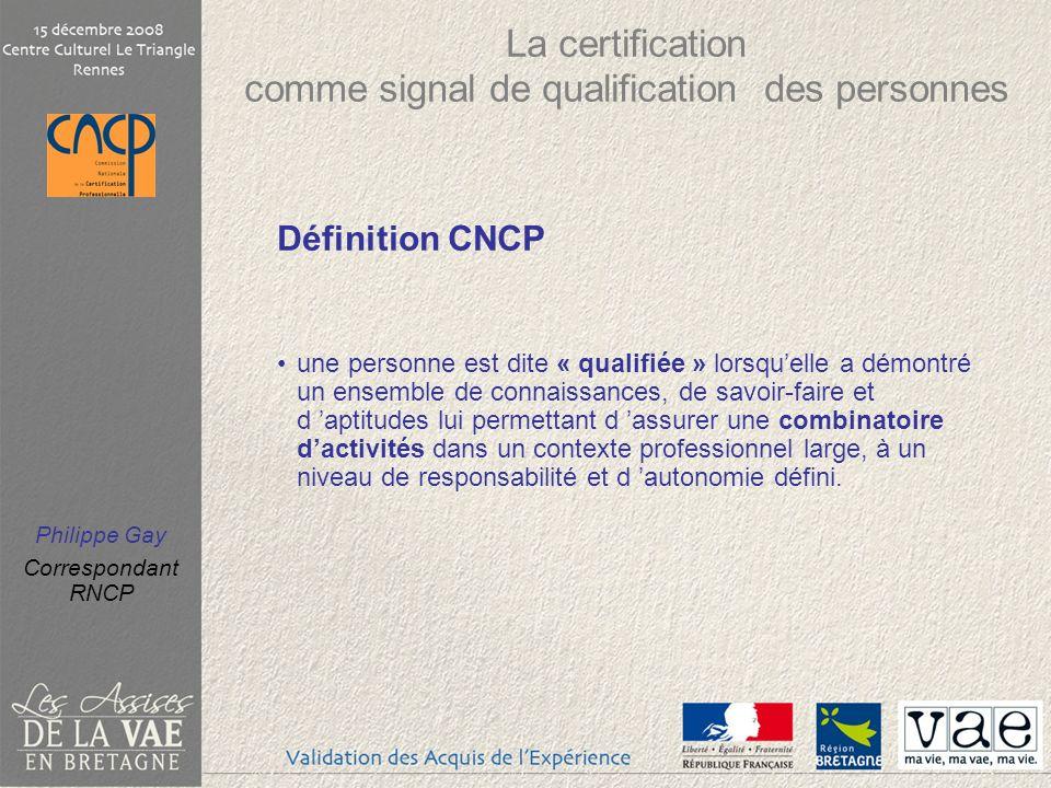 La certification comme signal de qualification des personnes