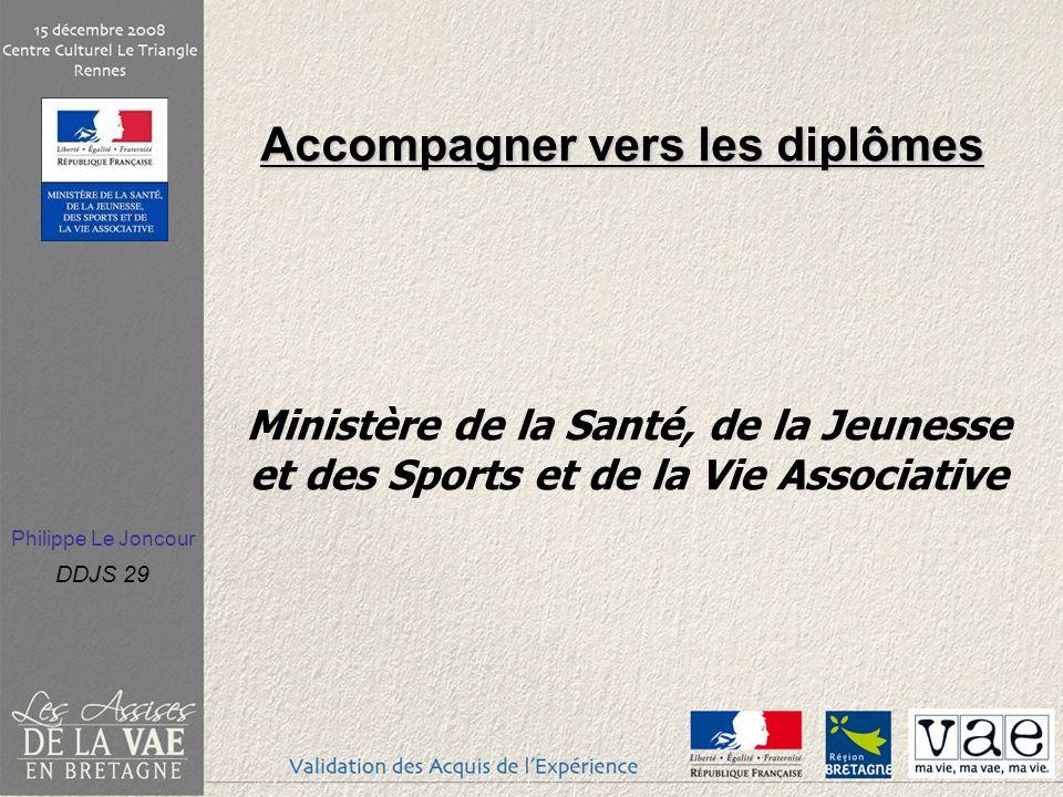 Accompagner vers les diplômes Ministère de la Santé, de la Jeunesse et des Sports et de la Vie Associative