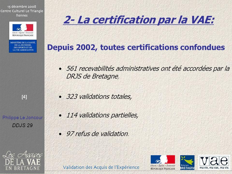 2- La certification par la VAE: