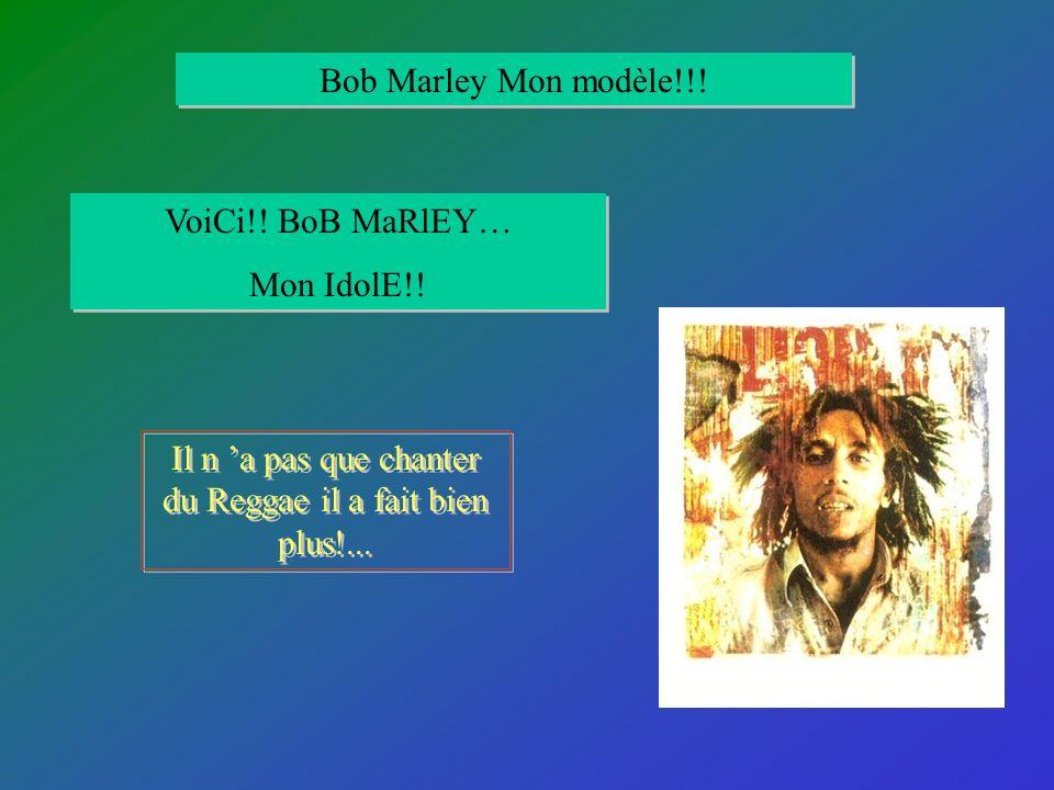 Il n 'a pas que chanter du Reggae il a fait bien plus!...