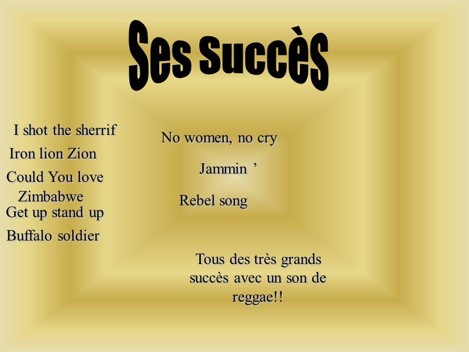 Tous des très grands succès avec un son de reggae!!