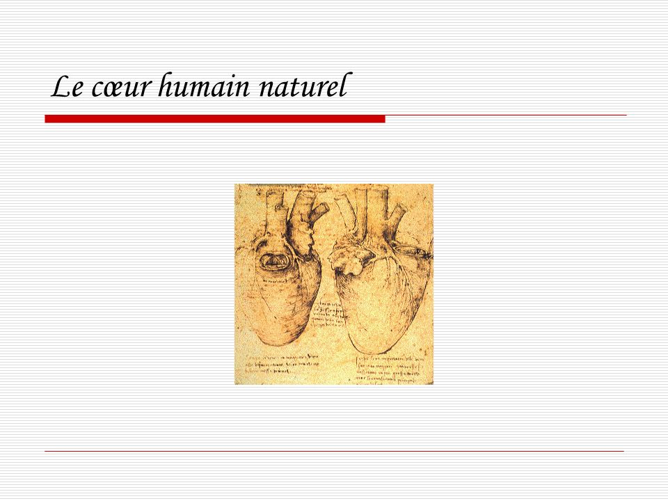 Le cœur humain naturel