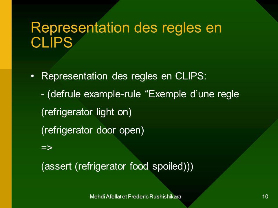 Representation des regles en CLIPS