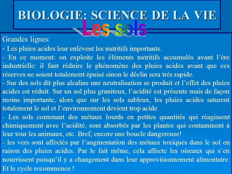BIOLOGIE: SCIENCE DE LA VIE