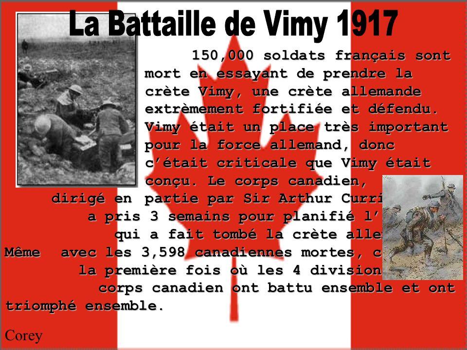 La Battaille de Vimy 1917 Corey