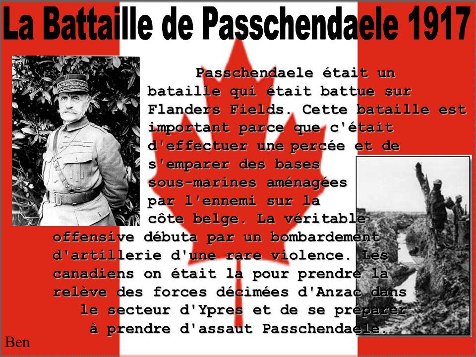 La Battaille de Passchendaele 1917