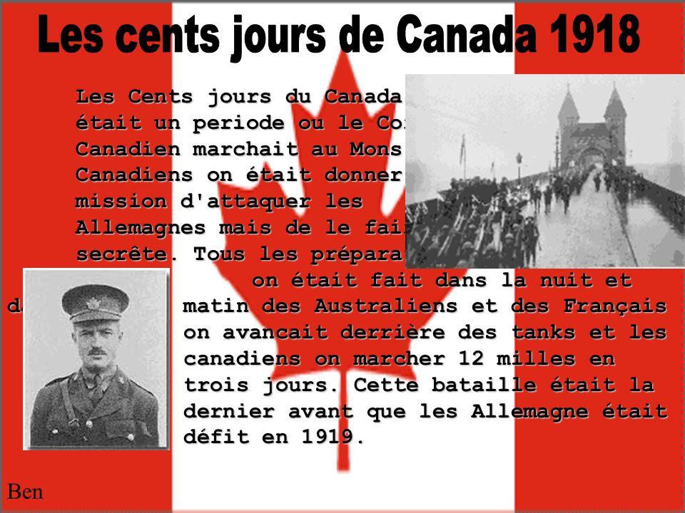 Les cents jours de Canada 1918