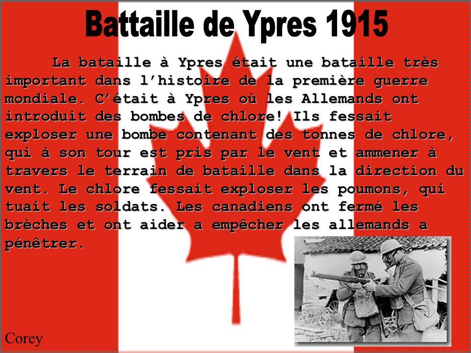 Battaille de Ypres 1915 Corey