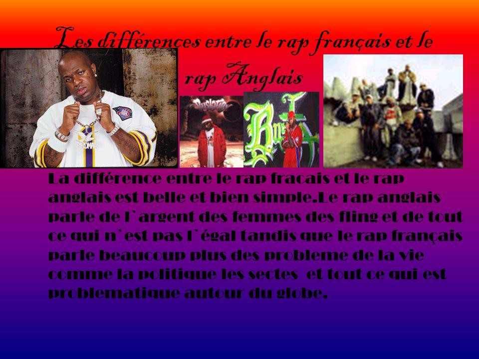 Les différences entre le rap français et le rap Anglais