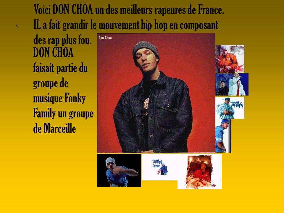 Voici DON CHOA un des meilleurs rapeures de France.