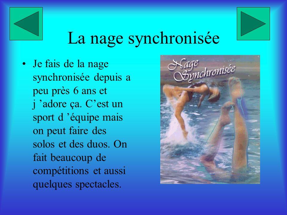 La nage synchronisée