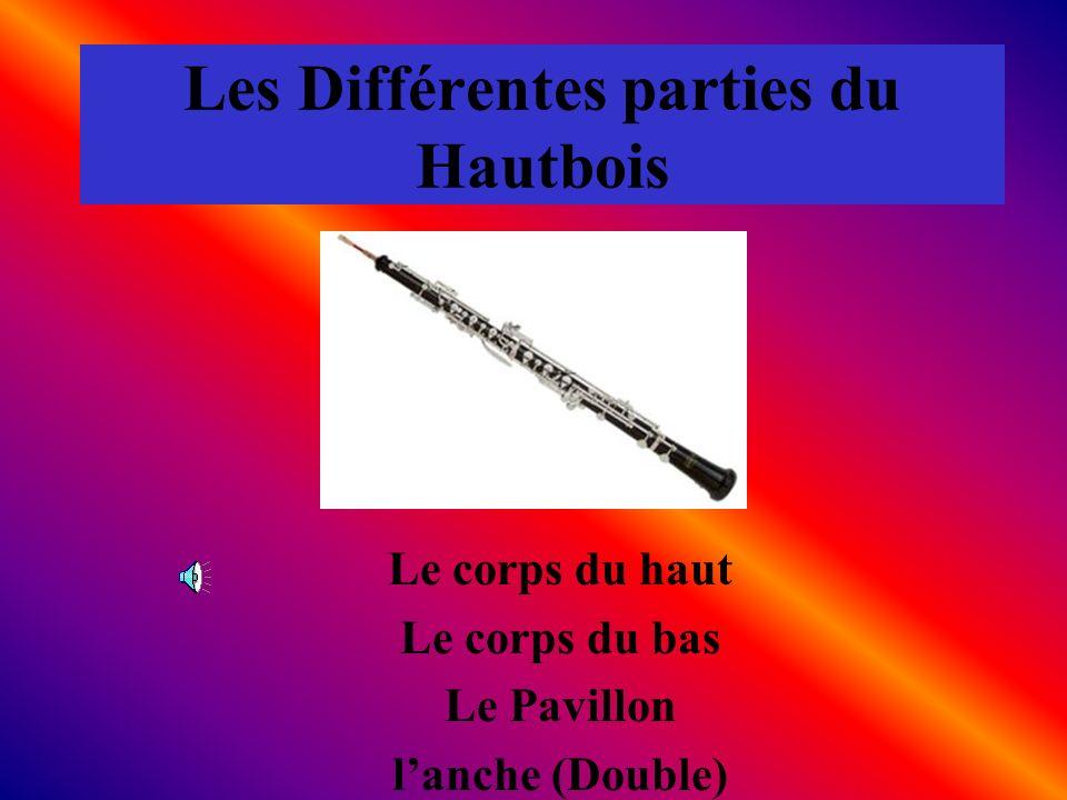 Les Différentes parties du Hautbois