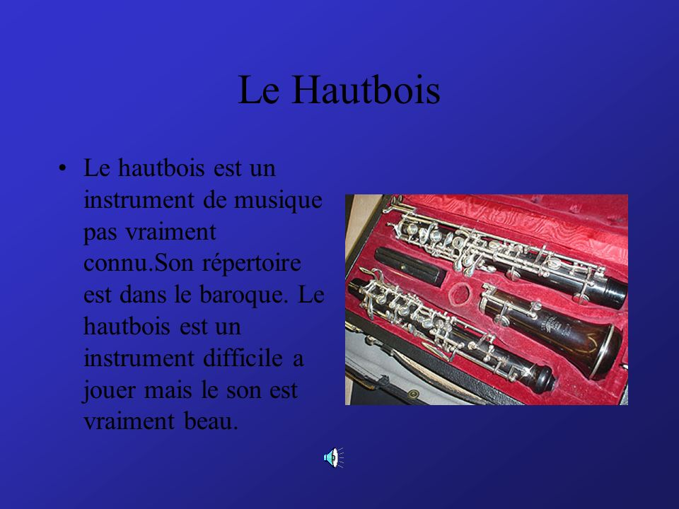 Le Hautbois