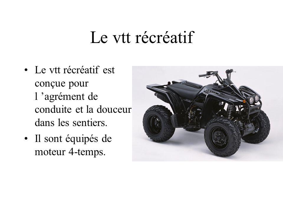 Le vtt récréatif Le vtt récréatif est conçue pour l 'agrément de conduite et la douceur dans les sentiers.