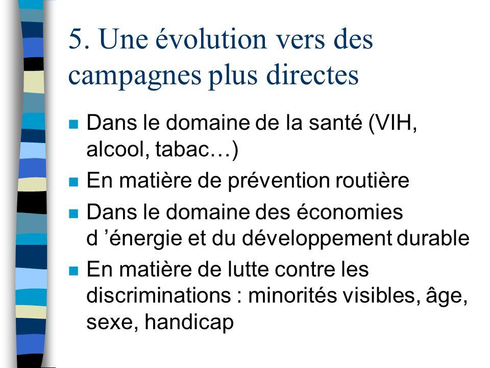 5. Une évolution vers des campagnes plus directes