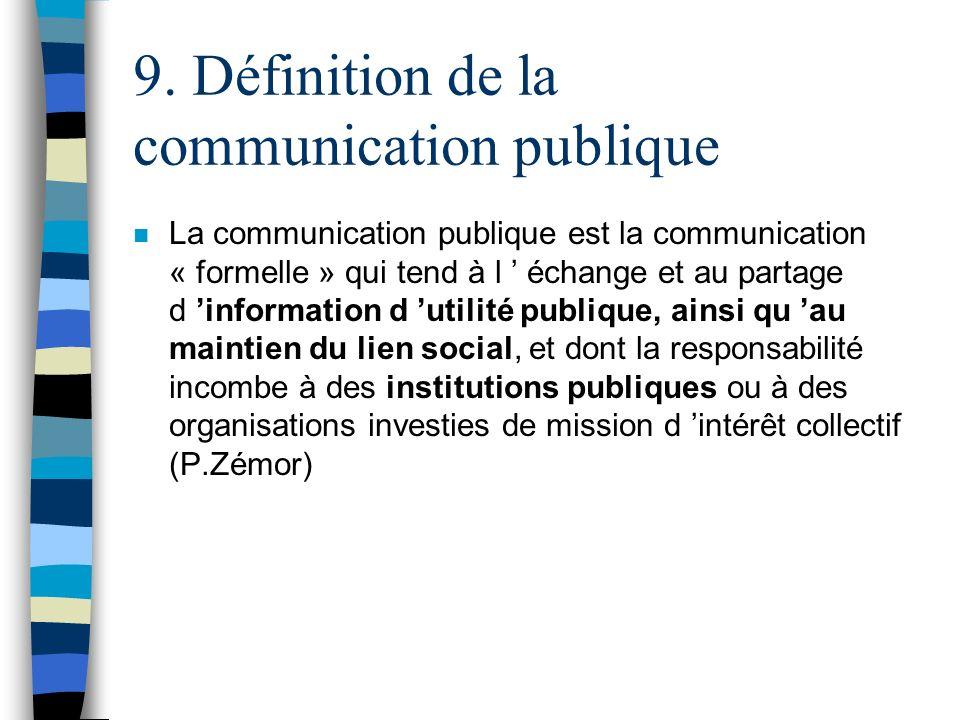 9. Définition de la communication publique