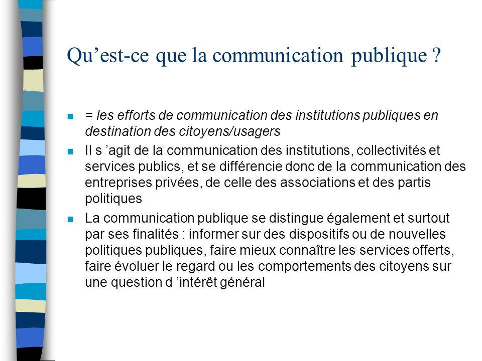 Qu'est-ce que la communication publique