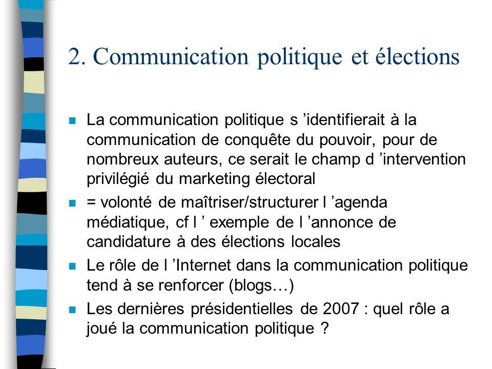2. Communication politique et élections