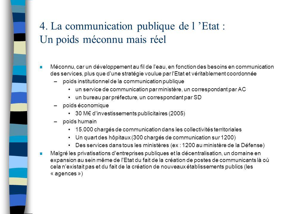 4. La communication publique de l 'Etat : Un poids méconnu mais réel
